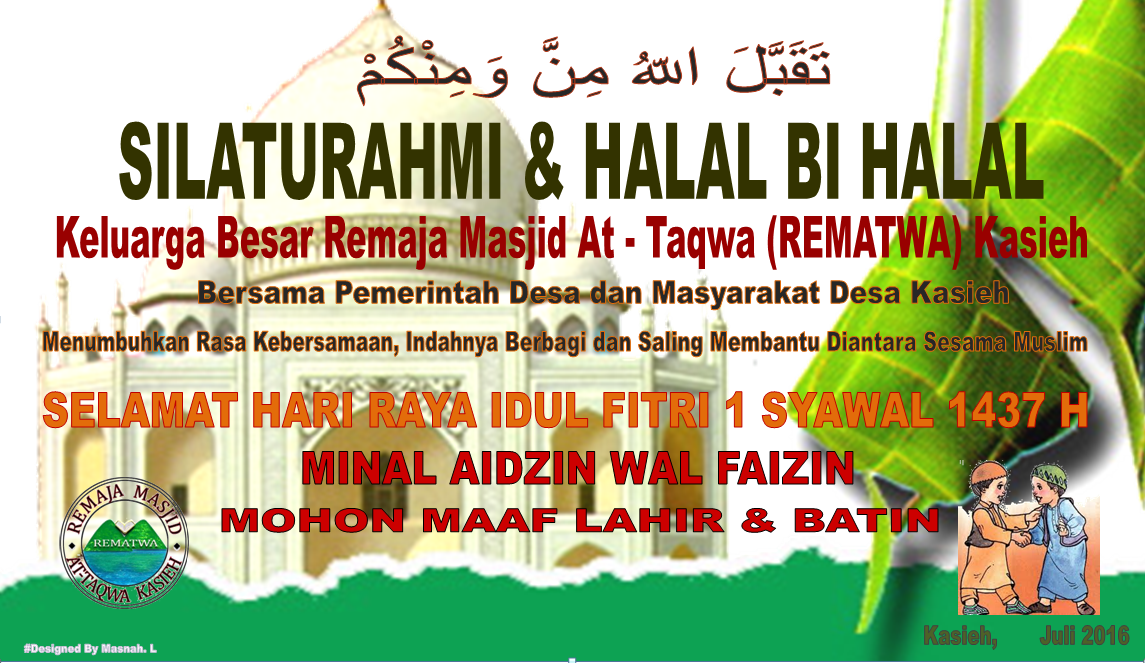 Rencana Silaturahmi Halal Bi Halal Rematwa Remaja Mesjid At