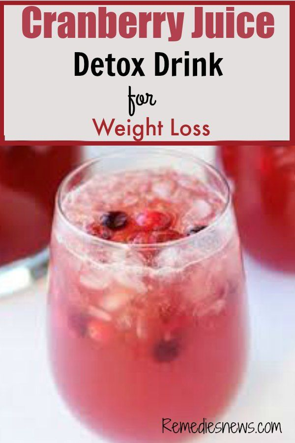 Cranberry Juice Detox Drink for Weight Loss