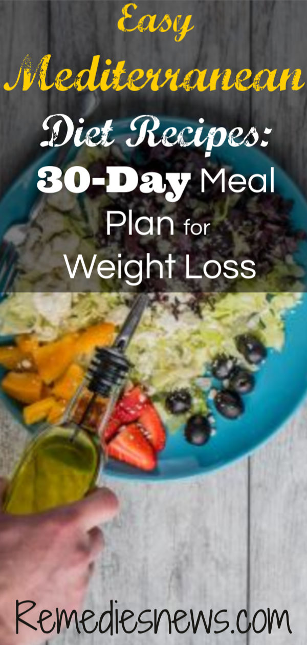 Easy Mediterranean Diet Recipes: 30-Day Meal Plan for Weight Loss