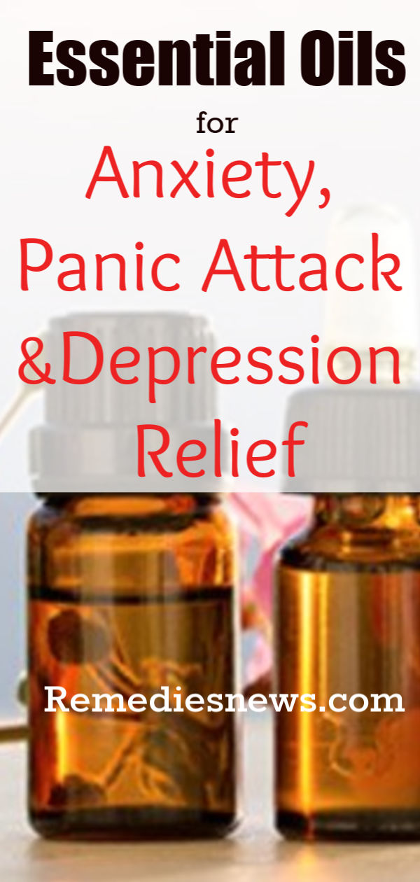 Essential oils for Anxiety, Panic Attack and Depression Relief
