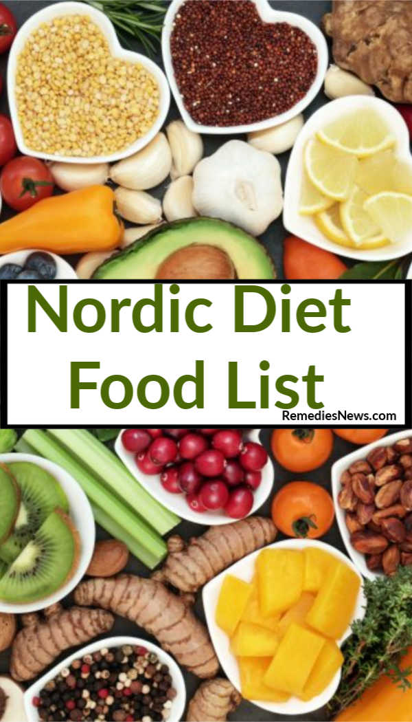 Nordic Diet Food List