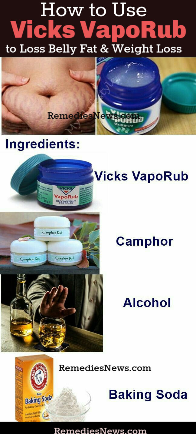 How to Use Vicks VapoRub To Lose Belly Fat and Weight Loss