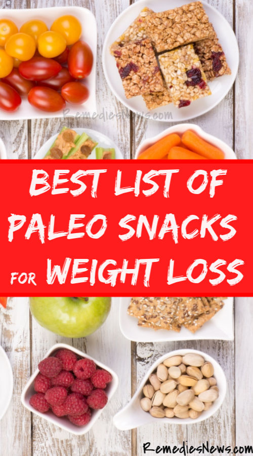 List of Paleo Snacks for Weight Loss