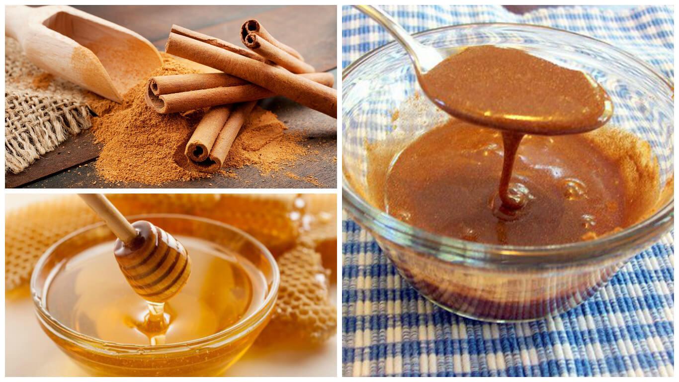 canela molida con miel de abeja