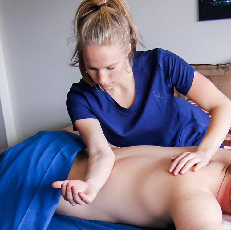 Receiving an In-home Therapeutic Massage
