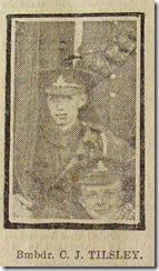 Tilsley 17 November 1917