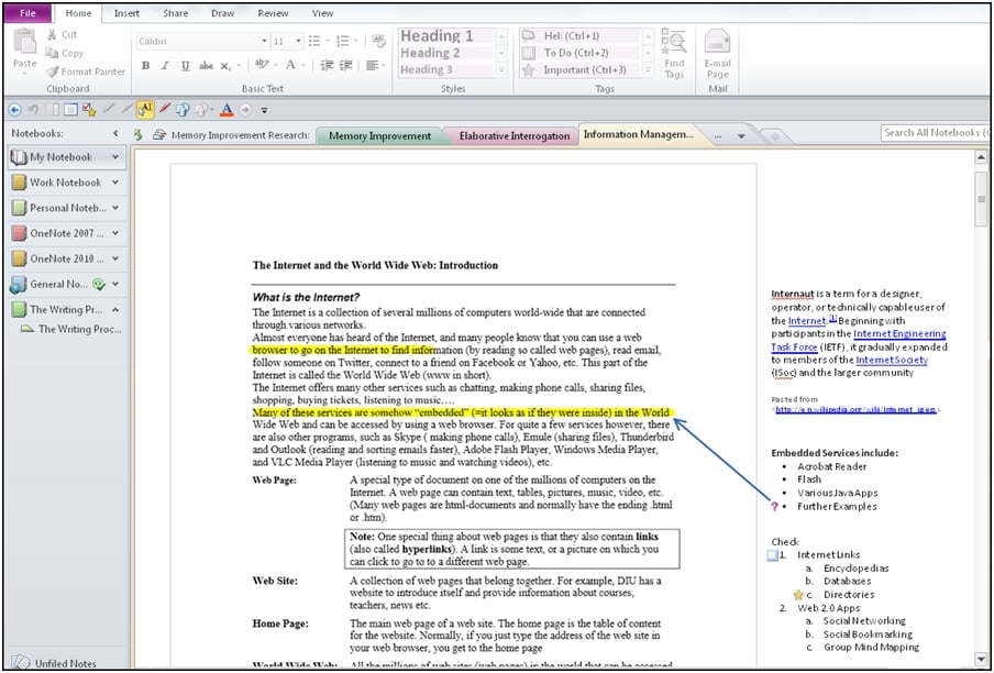 Effective Note Taking and Outlining with OneNote ...
