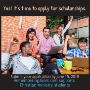 It's easy to apply for scholarships at RememberingJanet.com