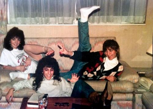 Karen Hunt with her Roommates. Notting Hill, December, 1988