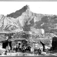 Black and white photo showing the main supply Depot at Anzac Cove WWI