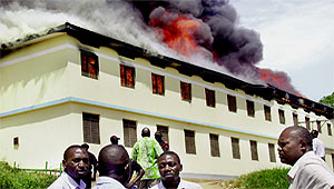 School Fires rage in more than 30 schools in Uganda