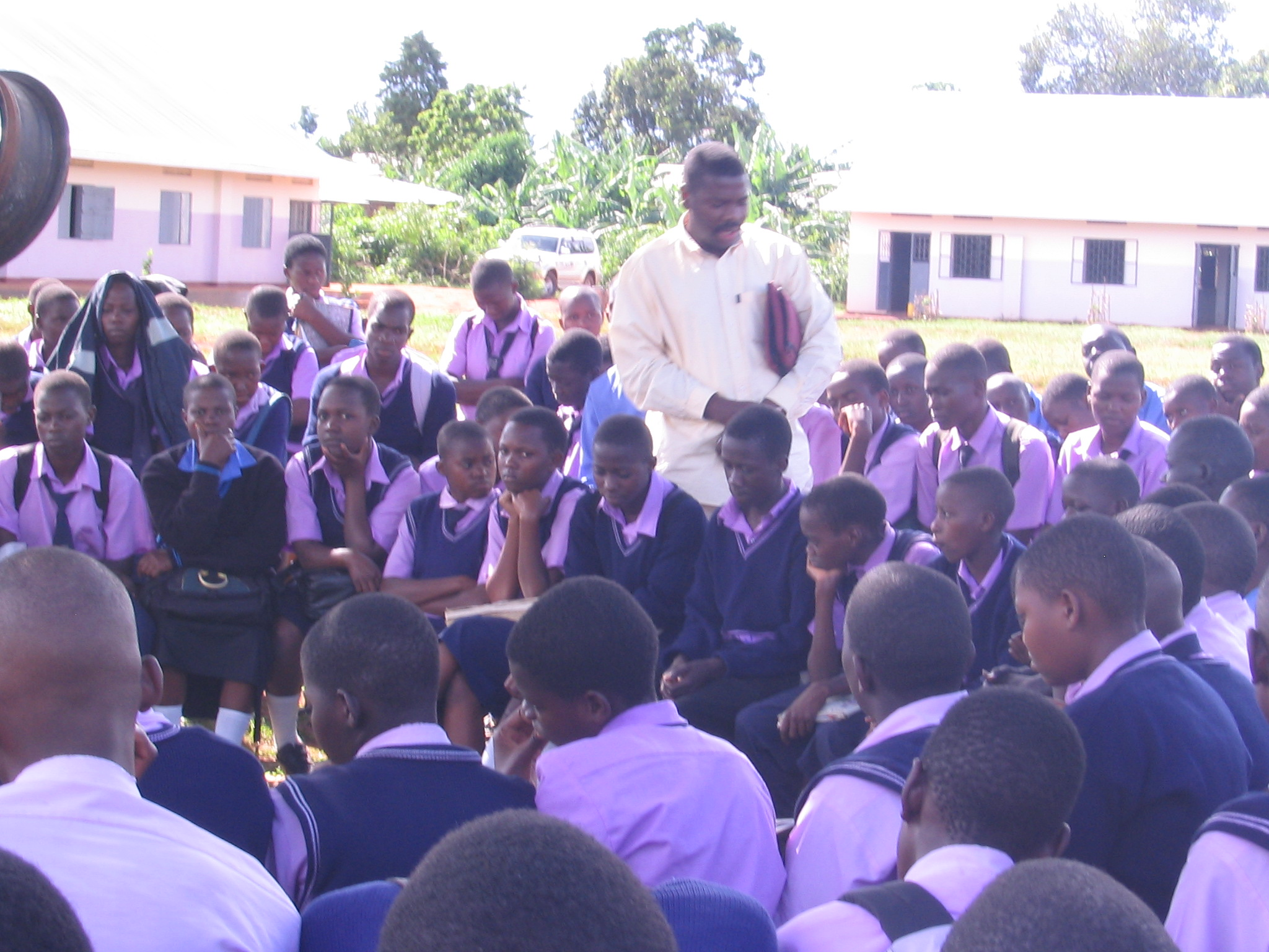 Bible Club with the high school students