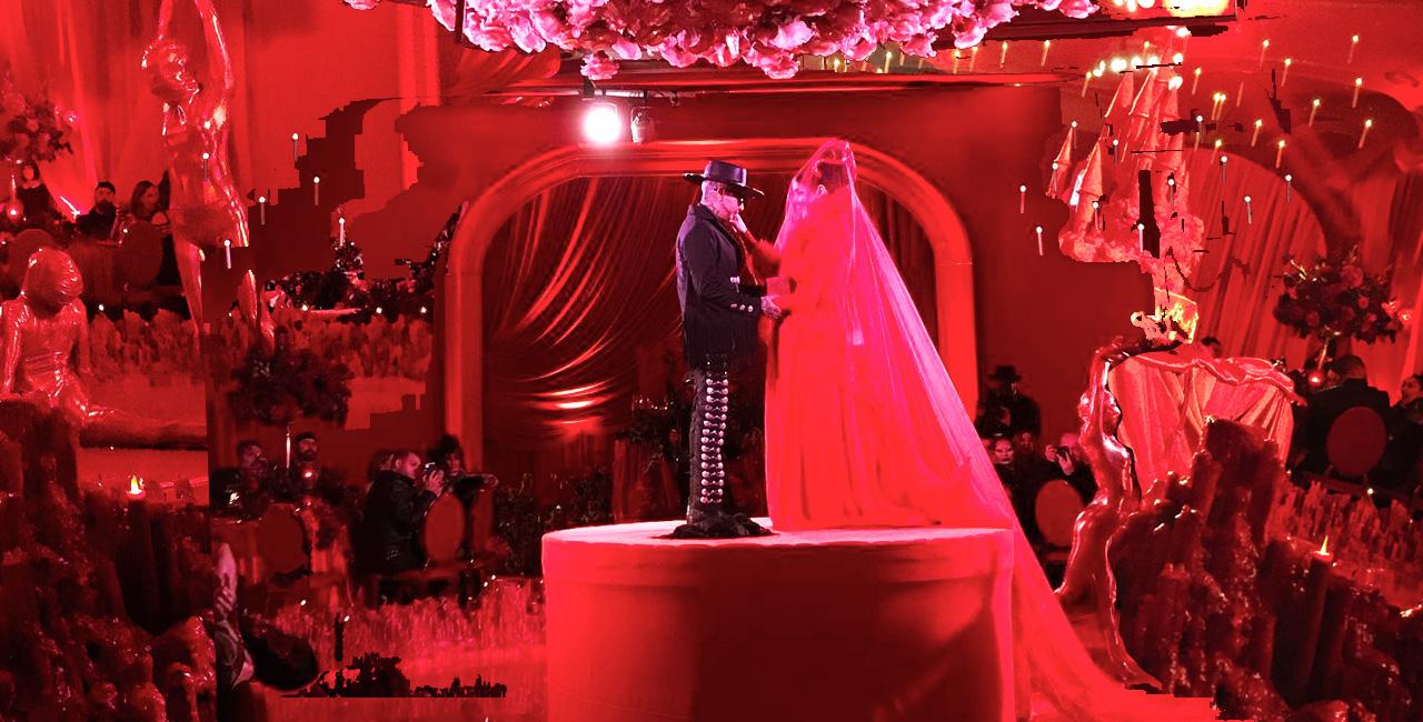 Image result for kat von d goth wedding