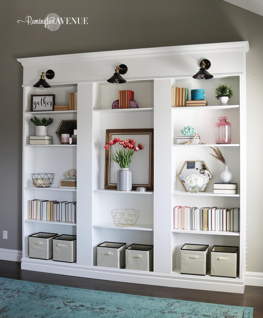Ikea Billy Bookcase Library Hack Remington Avenue
