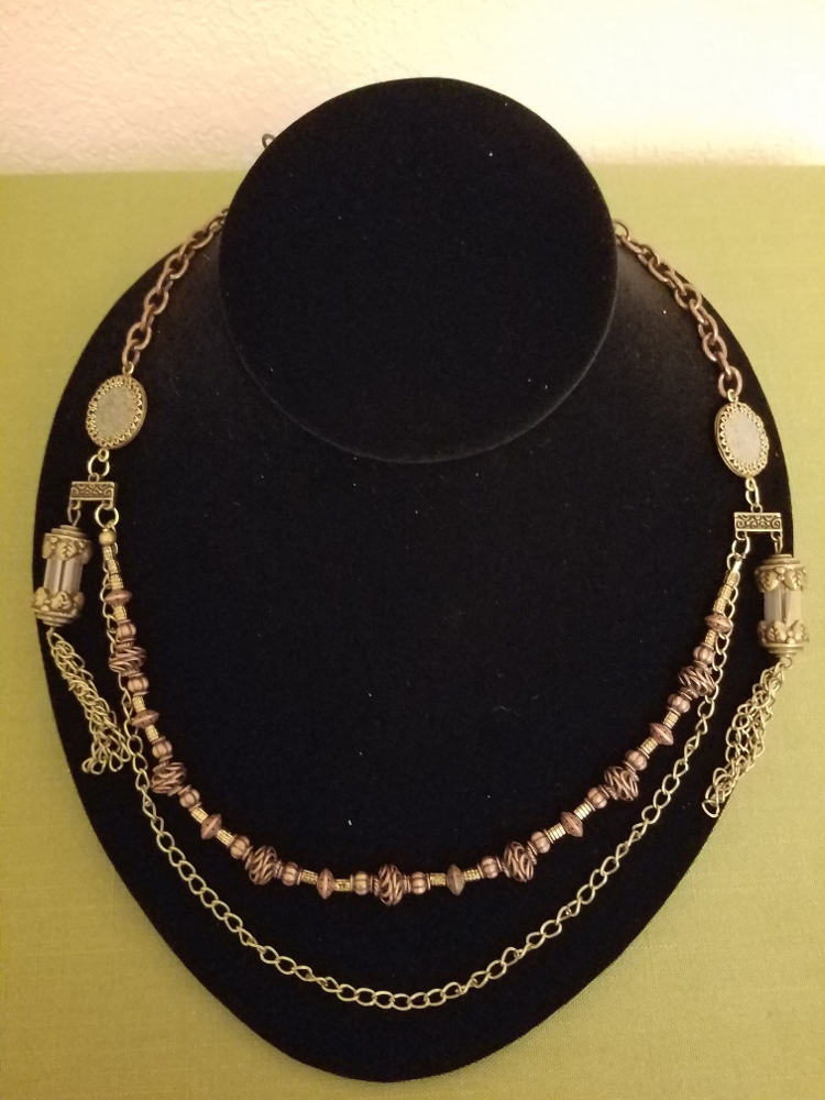 Steampunk necklace with Roman coins