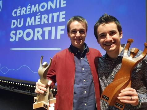 Nello et Titouan Perrin-Garnier lors d'une précédente récompense du Mérite Sportif