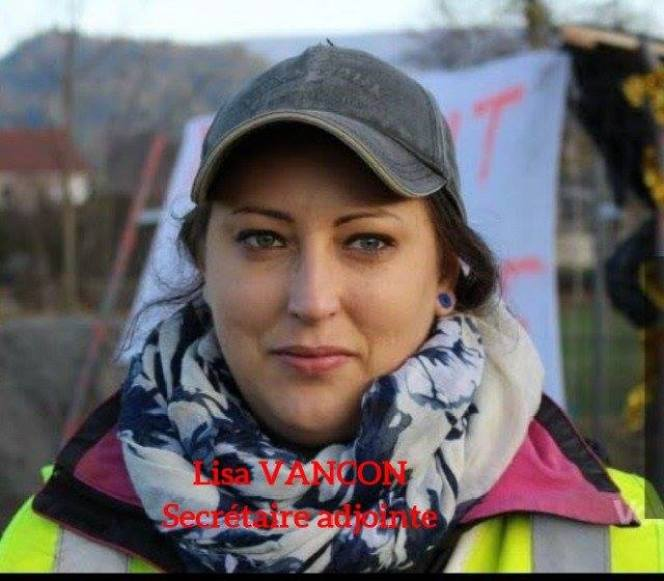 Lisa Vançon, secrétaire adjointe de l'association «Gilets Jaunes Vosges 88»