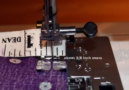 second seam - 3/8 inch
