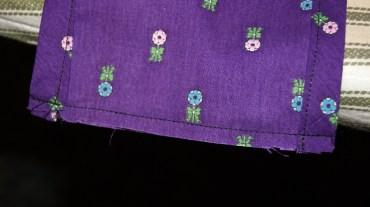 1/4 inch seam sewn first