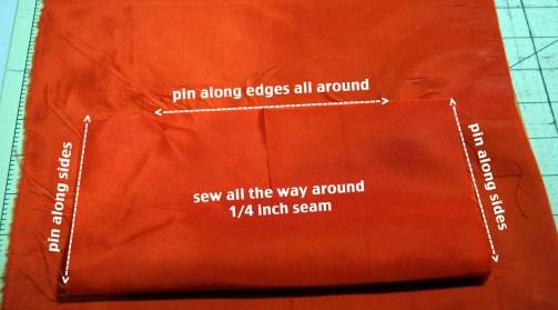 step 15 - pin all way around