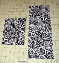 last few scraps of the zebra material