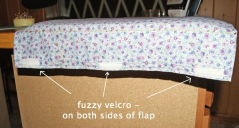 on both front and back of flaps