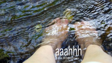 soakin' my feet in the Smoky Mountain streams