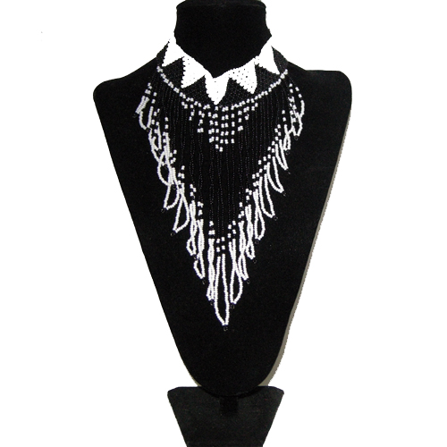 southwest beaded necklace-remix vintage fashion