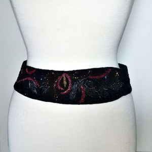 80s beaded cinch waist belt-the remix vintage fashion
