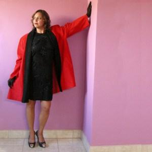 red swing coat stanley sherman i magnin 80s ultrasuede-the remix vintage fashion