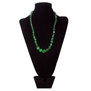 lime crystal necklace-the remix vintage fashion