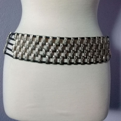 concho belt southwest leather--the remx vintage fashion