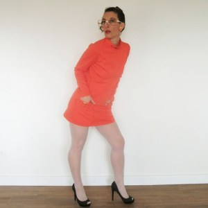 howard wolf clothing mini dress mod orange