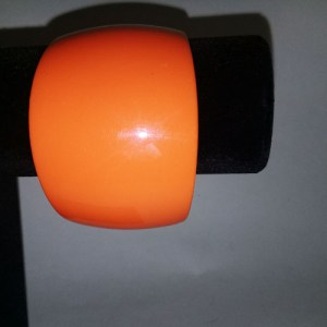orange lucite bangle wide bracelet-the remix vintage fashion