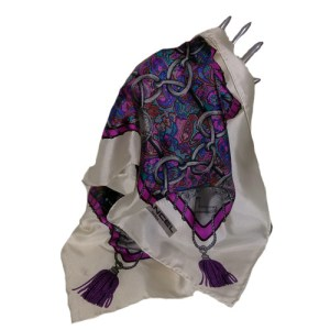 lancel scarf paris silk-the remix vintage fashion
