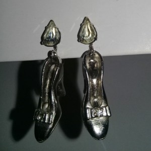50s Cinderella slipper earrings-the remix vintage fashion