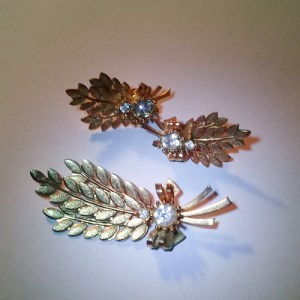 sarah coventry jewelry brooch earring set-the remix vintage fashion