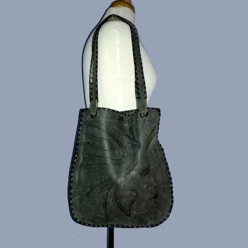 bacara boho bag leather goddess face-the remix vintage fashion