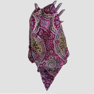 Saks Fifth Avenue silk scarf paisley print-the remix vintage fashion