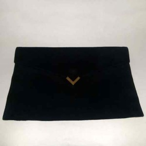 shirl miller ltd usa clutch black suede 70s 80s-the remix vintage fashion