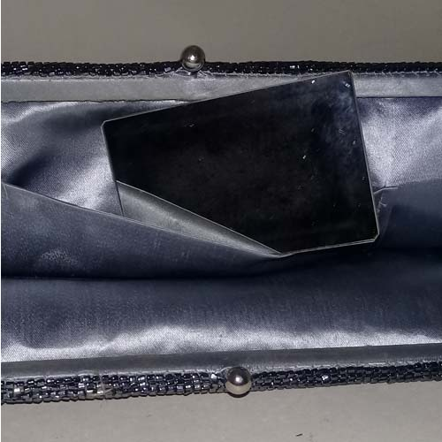 walborg beaded clutch pewter silver 70s 80s-the remix vintage fashion