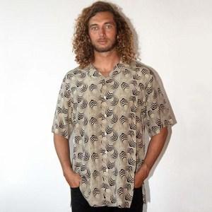 polo ralph lauren shirt silk short sleeve 80s camp style-the remix vintage fashion