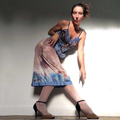 boho slip skirt blue brown copper artisanal fashion-the remix vintage fashion