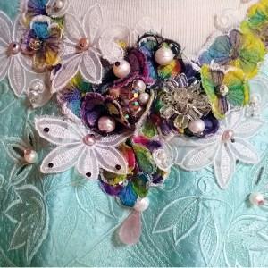 beaded bib collar lace quartz pearls-the remix vintage fashion