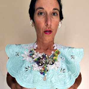 beaded bib collar pearls-the remix vintage fashion