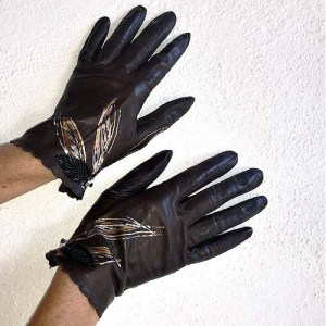 vintage ladies leather gloves-the remix vintage fashion