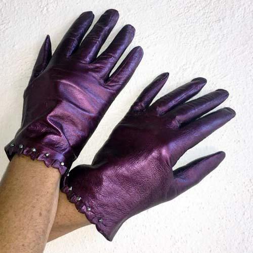 vintage ladies leather gloves-the remix vintage fashion