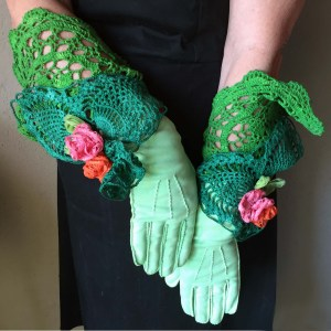 formal day gloves green-the remix vintage fashion
