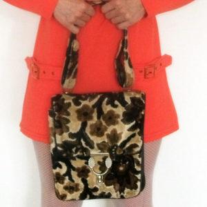 carpet bag shoulder strap 60s handbag-the remix vintage fashion