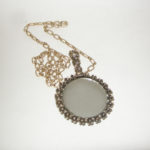girdle mirror pendant necklace-the remix vintage fashion